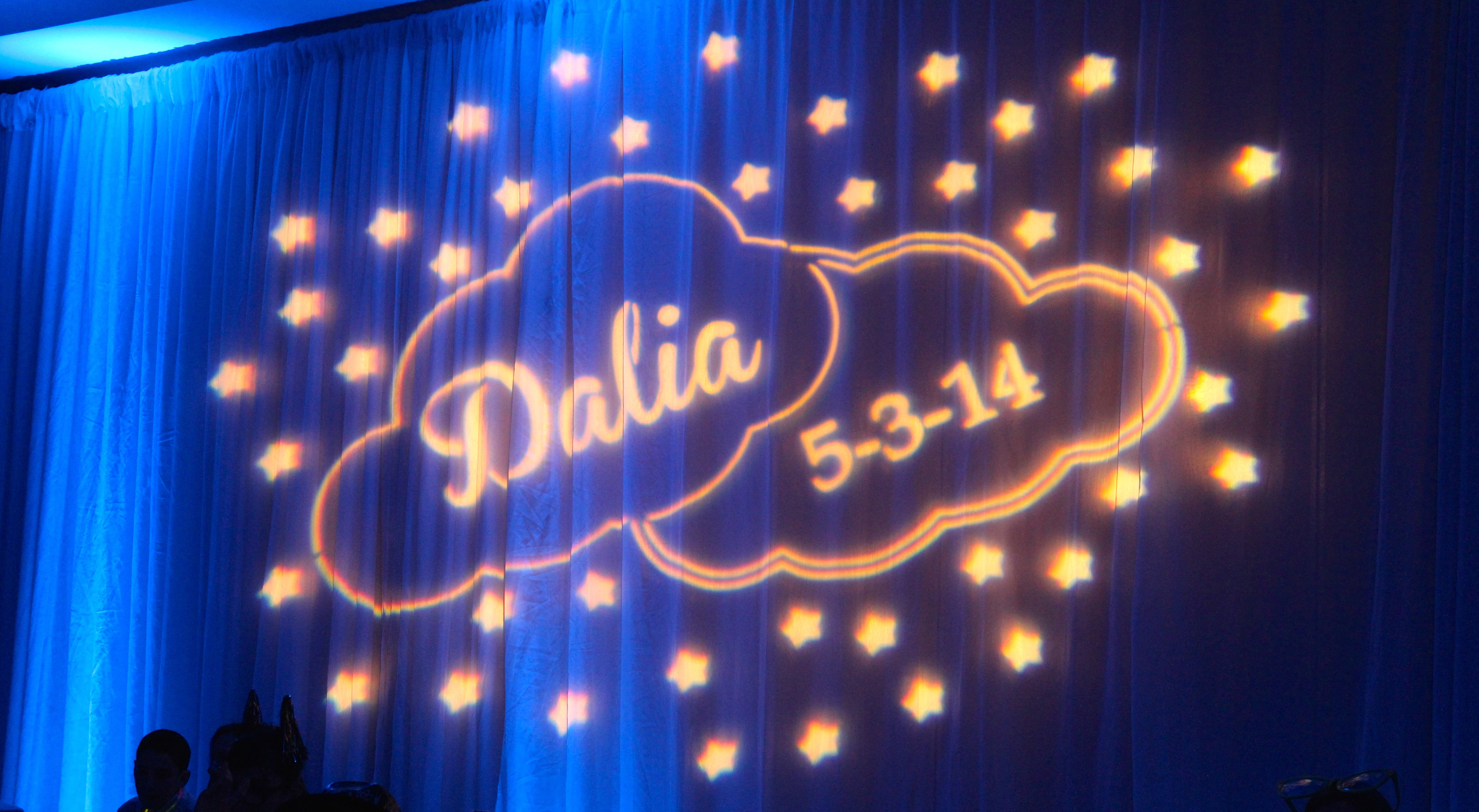 ... Bu0027nai Mitzvah Childrenu0027s Names), Initials, Date And/or Logo On The  Dance Floor, Ceiling Or Wall. Every Design Is Custom Created For The Event,  ...